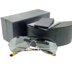 Prada Accessories - Prada Sunglasses Grey Mirrored Lens